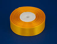 Лента атлас 2.5 см, 33 м, № 112 (17) желто-горячая