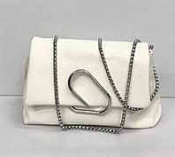 Женская сумочка клатч со скрепкой в разных цветах