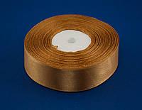 Лента атлас 2.5 см, 33 м, № 157 золотистая