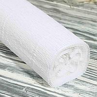 Креп-бумага №А-25 белый, плотность  180 г/м2 (Китай) 0,5м*2.5м