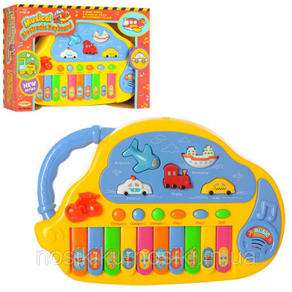 Детское пианино со звуками транспорта