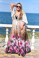 Женская пляжная туника №28-8056/39 Батал