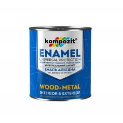 Емаль ПФ - 115 Захисна 0.9 кг Kompozit // Эмаль краска фарба