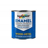 Емаль ПФ - 115 Коричнева 2.8 кг Kompozit // Эмаль краска фарба