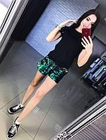 Женский модный летний костюм с пайетками: футболка и шорты (4цвета), фото 1