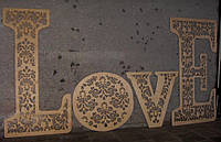 Слова и буквы из фанеры - LOVE