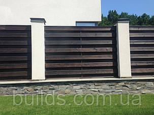 Изготовление и монтаж деревянных заборов, фото 2