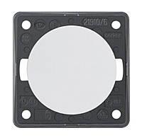 Кнопка 1-но клавишная 1НВ 10А/250В Berker Integro Полярная Белизна (936712509)