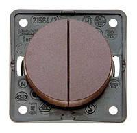 Кнопка 1-но клавишная 1НВ с линзой и подсвечиванием 10А/250В Berker Integro Коричневая Матовая (936752501)