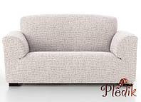 Чехол на диван натяжной 3-х местный Испания, Andrea Beige Андреа бежевый, фото 1