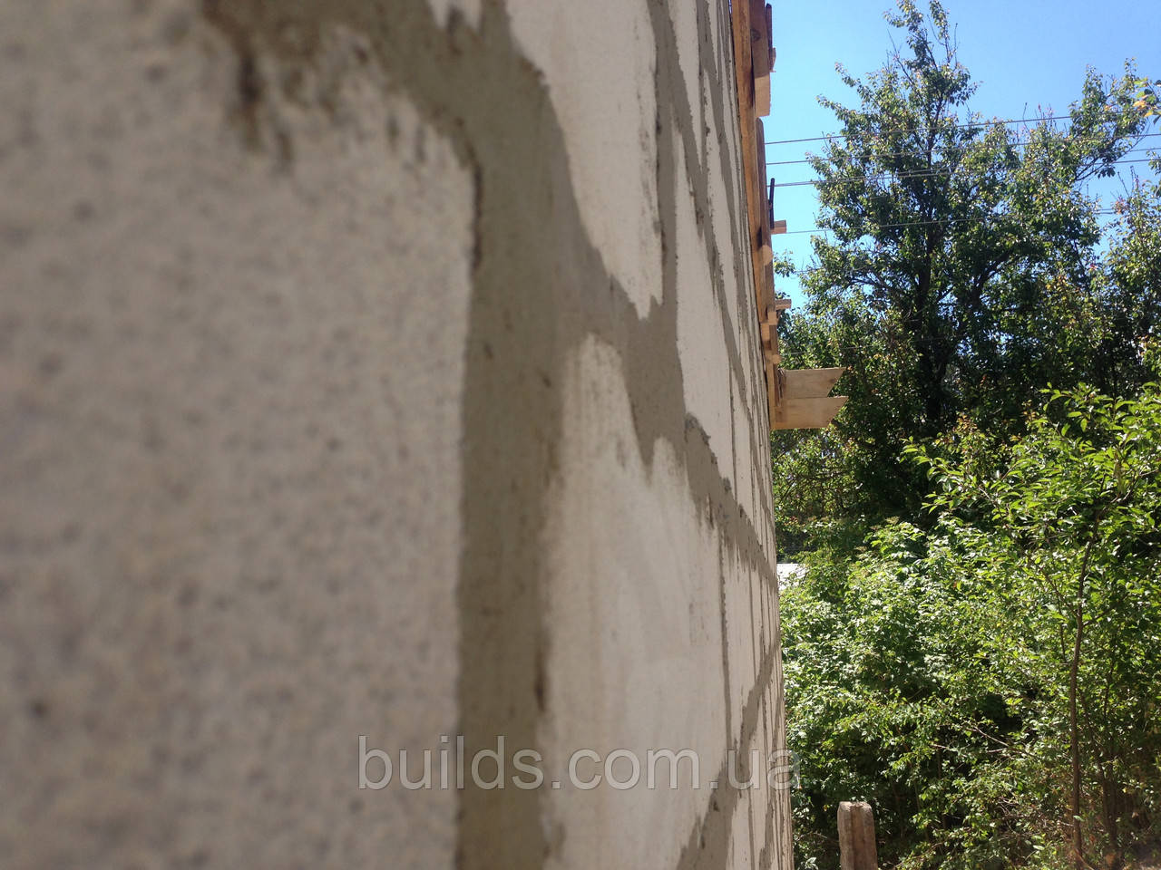 Кладка стен из пеноблока, газоблока