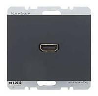 HDMI розетка Berker K.1 Антрацит (3315427006)