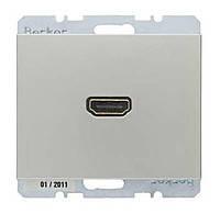 HDMI розетка Berker K.5 Стальной Лак (3315427004)