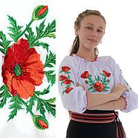 Вышиванка для девочки Маковая роса от 3 до 6 лет