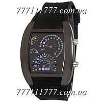 Часы мужские наручные Спидометр Led Street Racer All Black