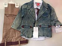 Костюм для мальчика рубашка+куртка+брюки 2-5 лет