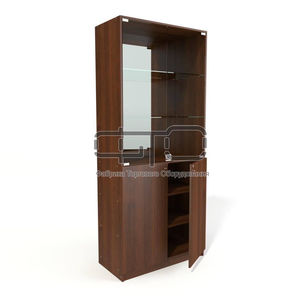 Вітрина шафа (задня стінка дзеркало)