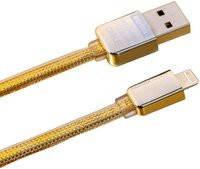 Кабель USB-IPHONE 5/6 3 A GOLD Good Quality!Акция