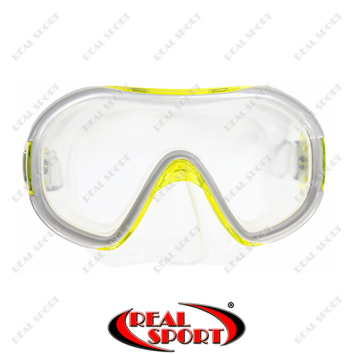 Маска для дайвинга и плавания Dorfin PL-265TSS (термостекло, силикон, пластик, желтая) - Интернет-магазин «Real Sport™» в Кривом Роге