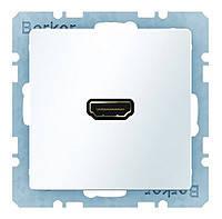 HDMI розетка Berker Q.1/Q.3 Полярная Белизна (3315426089)