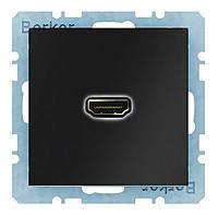 HDMI розетка подключения сзади под углом 90 градусов Berker Q.1/Q.3 Антрацит (3315436086)