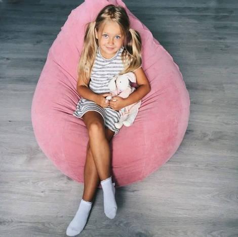 Розовое кресло мешок для девочки