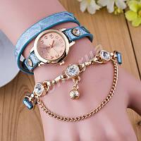 Женские часы-браслет голографический ремешок Blue