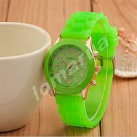 Женские часы Geneva Lime силиконовый ремешок