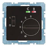 Термостат для пола с датчиком 16А/250В Berker Q.1/Q.3 Антрацит (20346086)