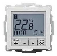 Термостат цифровой с таймером и дисплеем 8А/250В Berker Q.1/Q.3 Полярная Белизна (20446089)