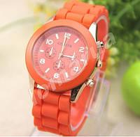 Женские часы Geneva Orange силиконовый ремешок