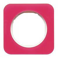 Рамка 1-но постовая Berker R.1 Красный Прозрачный/Полярная Белизна Акрил (10112349)