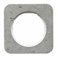 Рамка 1-но постовая Berker R.1 Серый/Полярная Белизна Бетон (10112379)