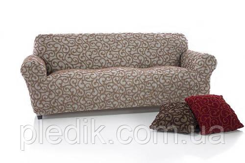 Чехол на диван натяжной 4-х местный Испания, Dickson Beige Диксон бежевый