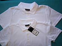Школьная рубашка поло белого цвета Некст на мальчика Хлопок Размер 128