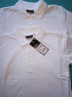 Школьная рубашка поло белого цвета Некст на мальчика Хлопок Размер 122