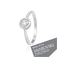 Серебряное кольцо-комплект Дарлин с цирконием SWAROVSKI ZIRCONIA 000039601 17.5 размера