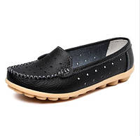 Туфли женские черные натуральная кожа Т591 р 38,39,40,41