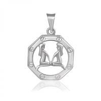 Серебряный подвес Знак Зодиака Близнецы 000039651