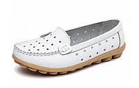 Туфли женские белые натуральная кожа Т592 р 38