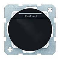 Релейный выключатель с панелью для отельных карт 10А/230В Berker R.1/R.3 Чёрный (16402045)