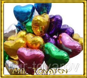 Воздушный шарик из фольги,сердце 45см