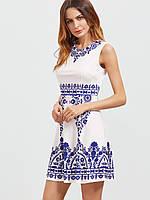 Летнее женское платье на молнии СС7301