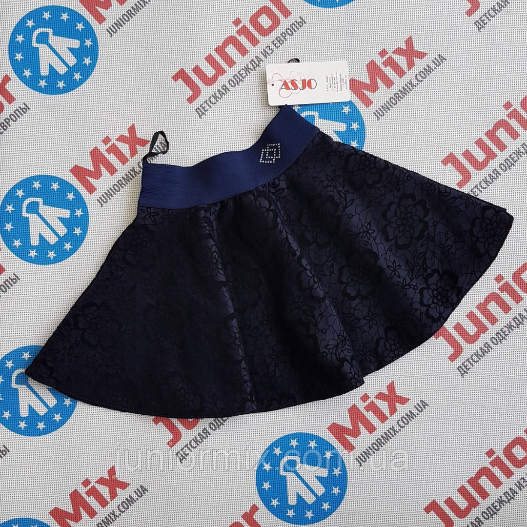 Детская школьная юбка для девочки  в цветочки  ASJO