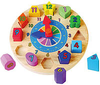 Пазл сортер Viga toys Часы (59235)