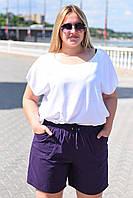 Женские шорты №28-9074 Батал