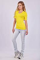 Женская футболка с V - образным вырезом (мысик), фото 1