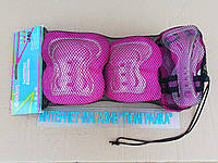 Защита детская: наколенники, налокотники, перчатки ZELART SK-4679B LUX (р-р S, M, L) розовый.