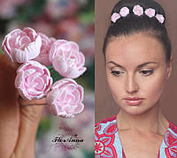 """""""Розовые пиончики""""(1шт). Шпильки для волос с цветами, фото 1"""