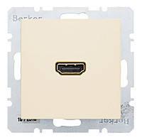 HDMI розетка (подключение сзади под углом 90 градусов) Berker S.1 Белый (3315438982)